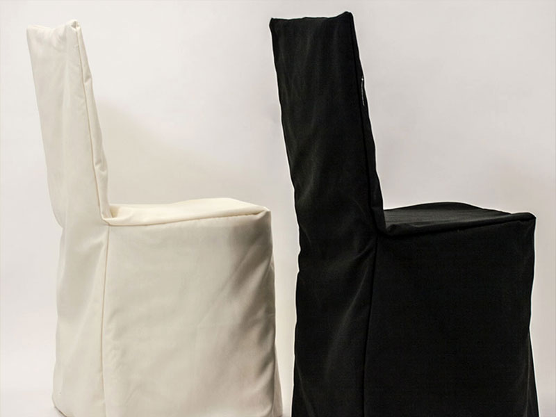 Basic Chair Covers - Ivory / Black
