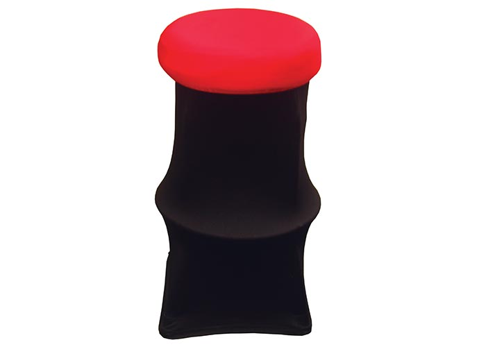 Stool Cover - Red Top