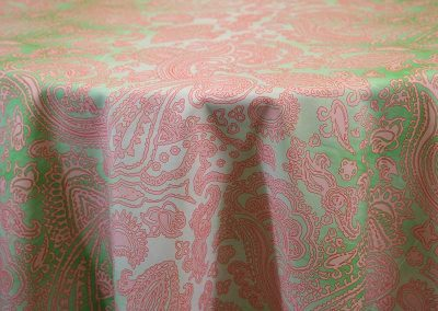 Ombre Paisley - Green & Pink