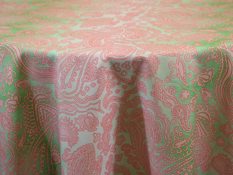 Ombre Paisley Green Pink