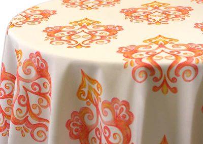 Prato - Orange on White