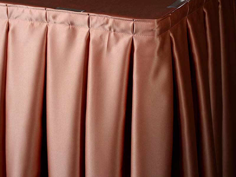 Box Pleat Skirting