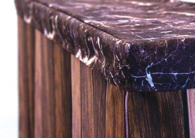 Dark Wood Bar / Tinted Marble Cap