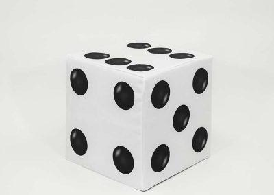 Block Cover - White Dice