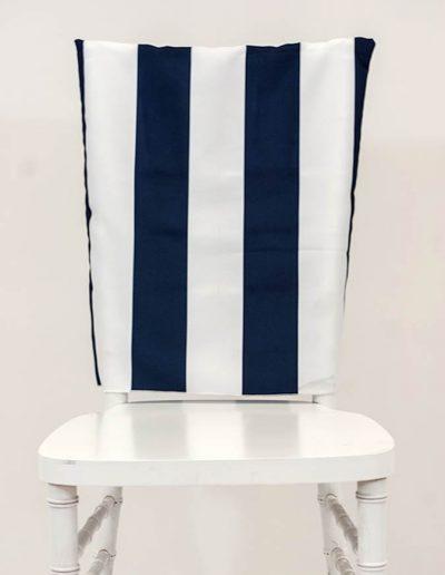 Chair Back - Navy Hudson Stripe