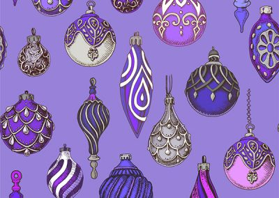 Hanging Ornaments - Purple