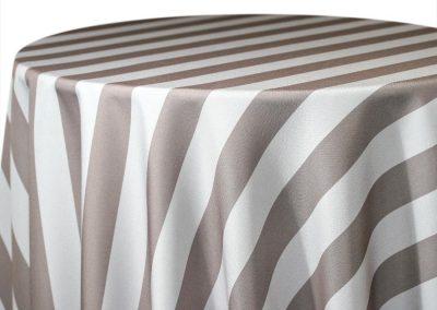 Hudson Stripe - Stone / Ivory