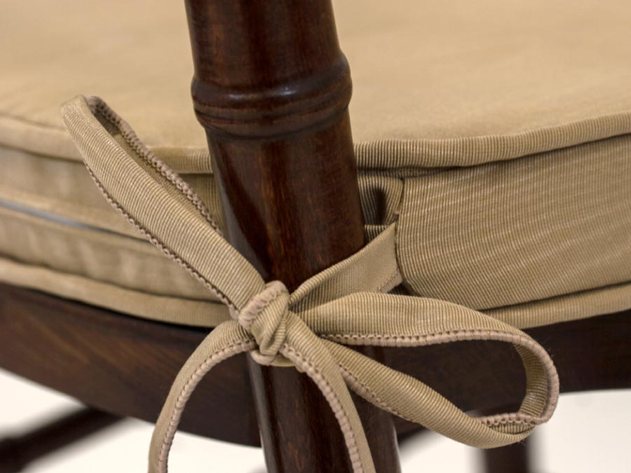 Seat Cushion Covers - Gusset with Piping - Chair Tie