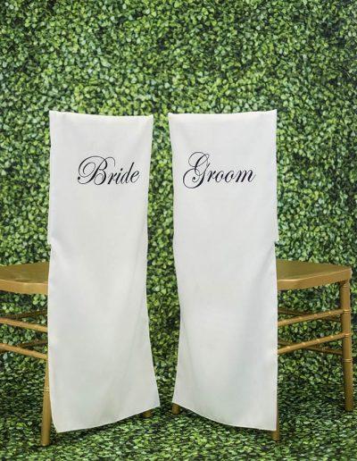 Chair Jacket - Bride Groom