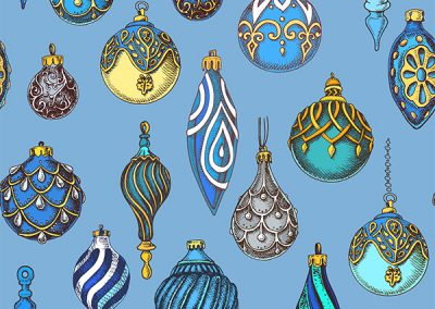 Hanging Ornaments - Blue